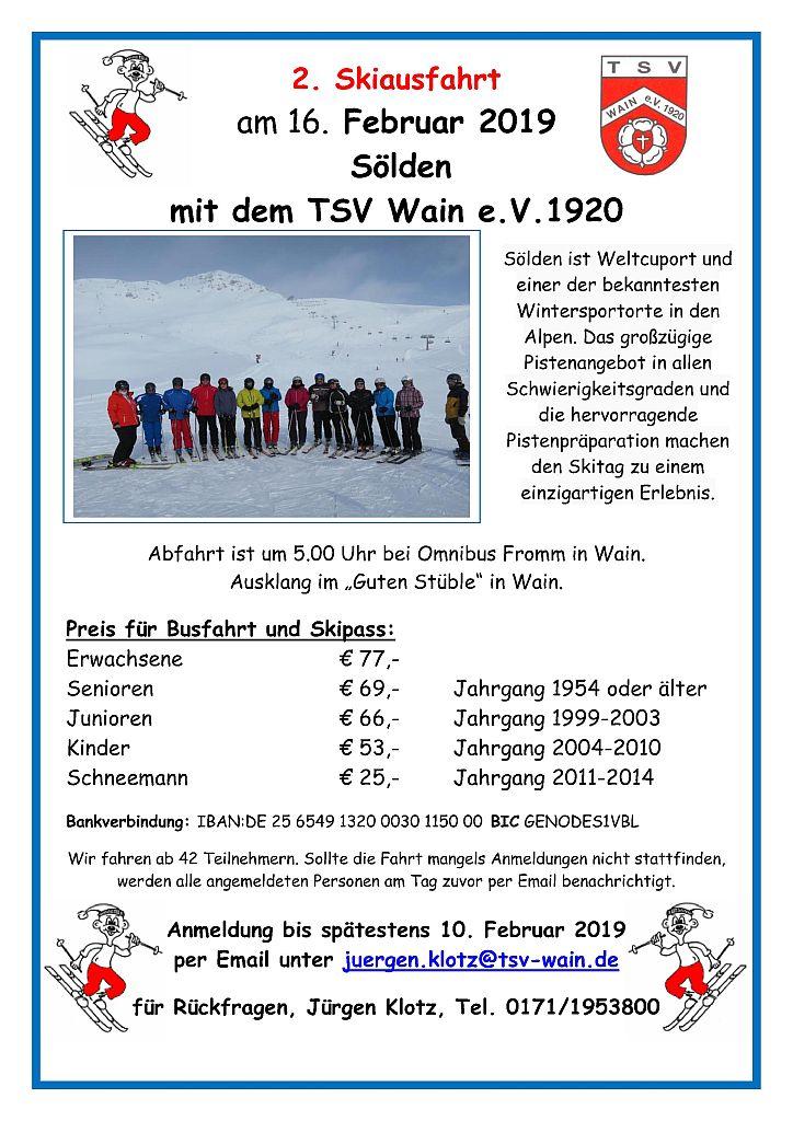 2. Skiausfahrt Sölden TSV-Wain